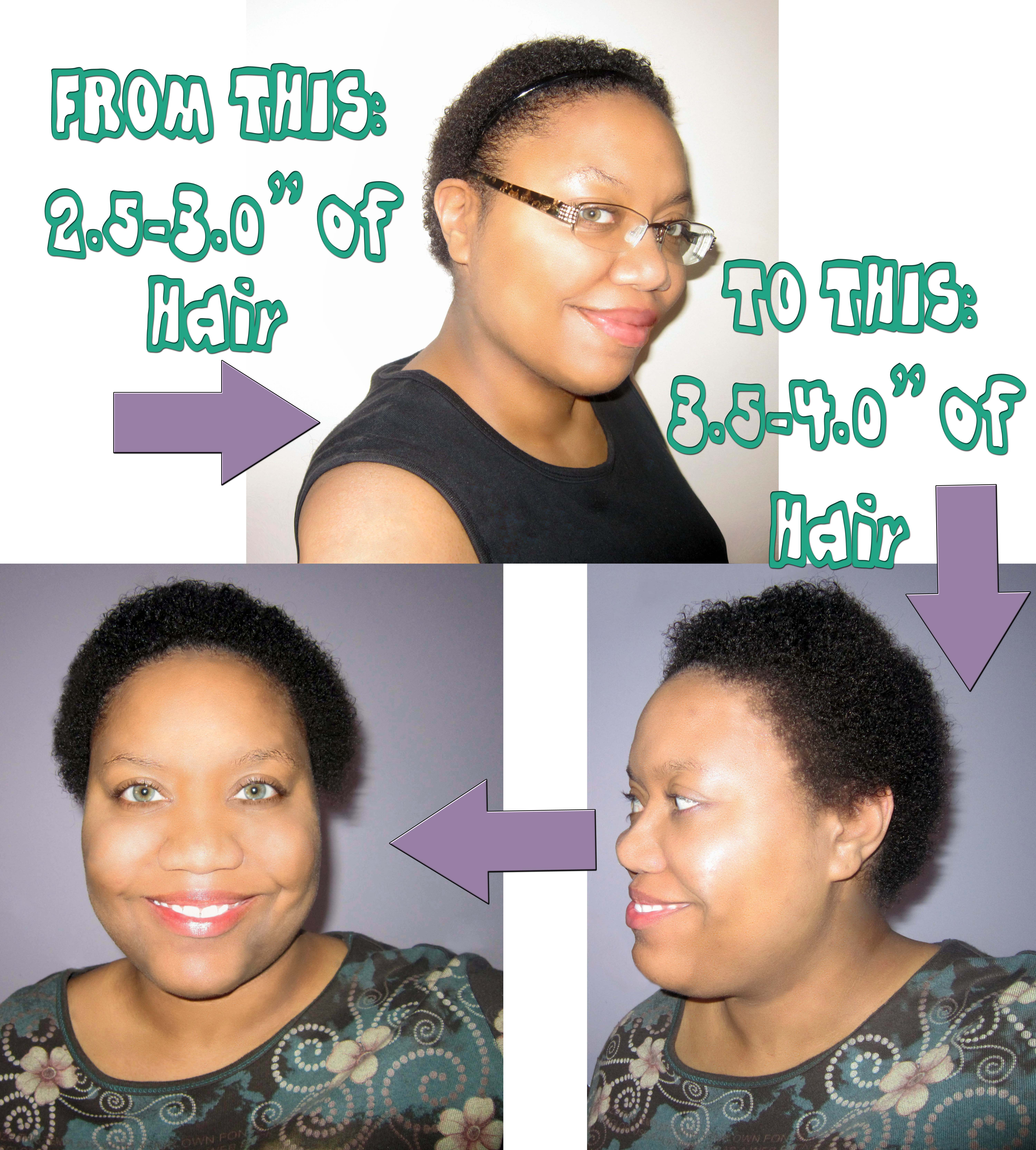 Hair growth data tracking and my one month length check relaxed 1 month length check 1 inch nvjuhfo Images