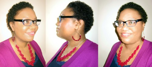 Twist Out on 4-inch Hair Photo Montage