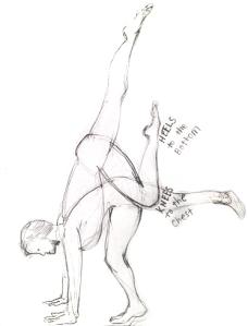 Yogi Handstand Sketch