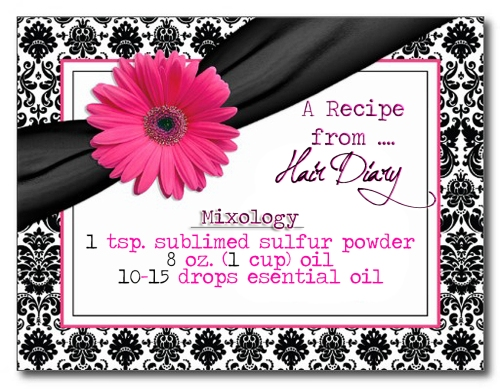 Recipe Card - SULFUR HAIR GROWTH OIL