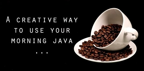 Coffee Cup + Coffee Beans + TEXT