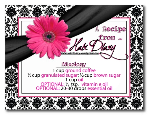 Recipe Card - CAFÉ SCRUB