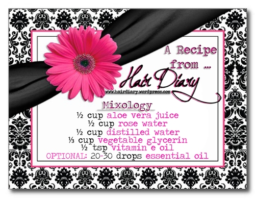 Recipe Card - SUPER-MOISTURIZING SPRITZ