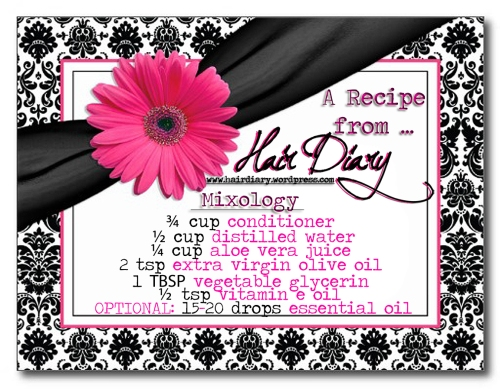Recipe Card - Blackberry Sage Tea Creamy Leave-in Conditioner