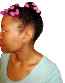 Side View with Orchid Rollers